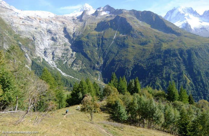 Le Tour has more than it's fair share of Chamonix's quota of flowy singletrack