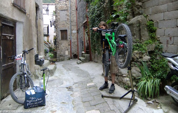 Is fixing bikes in YOUR garden as photogenic as this? Last chance to prep the bikes.