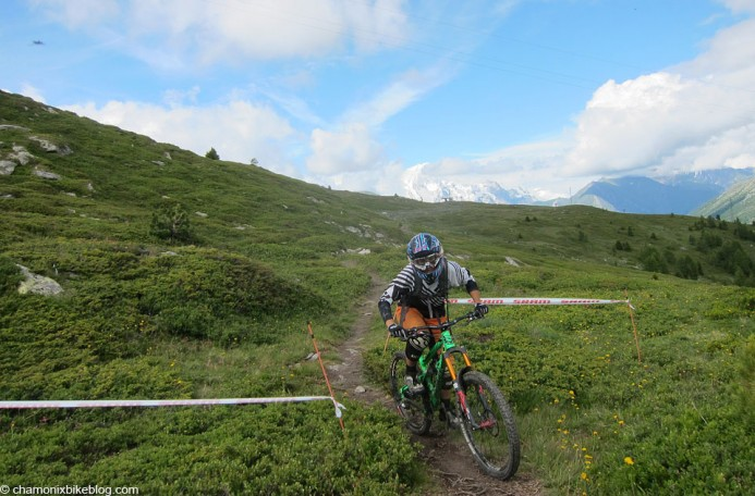 Photos of riders with a visible Mont Blanc in the background are as rare as rocking horse poo at the moment!
