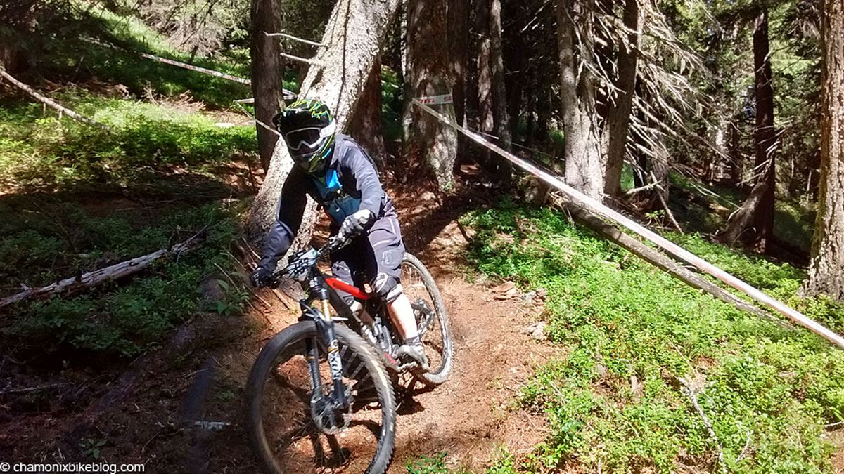 Melanie reccying stage 5 and moving a bit too quick for the camera.
