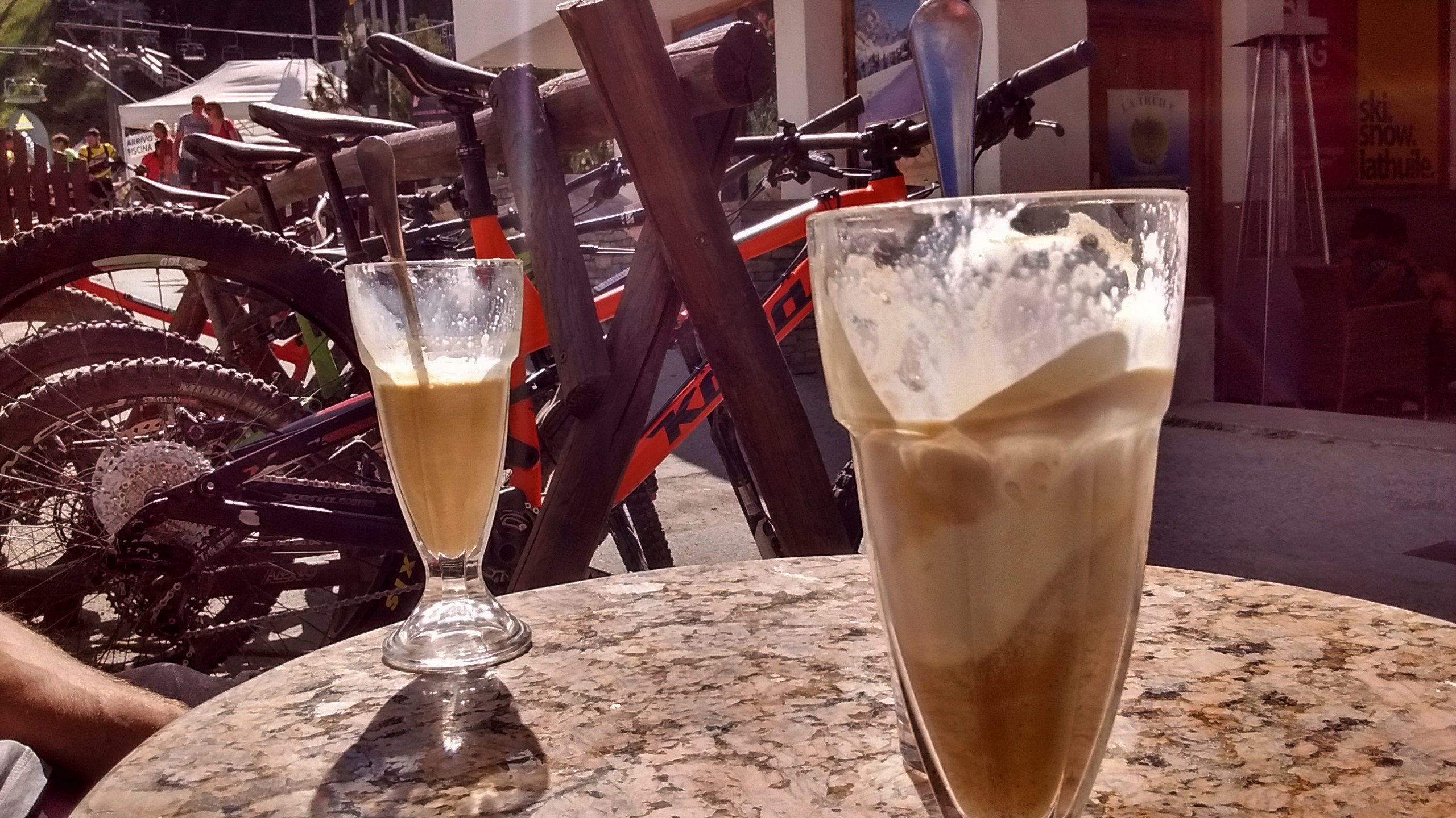 Post race affogato. It is Italy after all.
