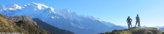 Mont Blanc from the Pointe Noire de Pormenaz. Blanc, Noire. You see what I did there?