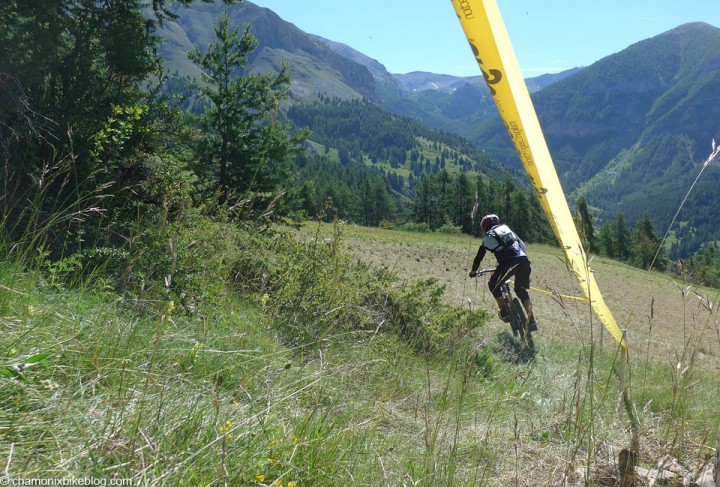 Start of stage 2. Cross the field then drop into the landscape for 10 minutes.