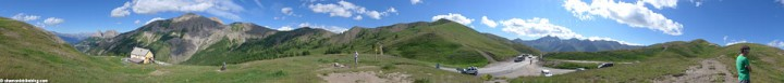 Val d'Allos, coupe du France round 2. If you've got a panoramic thingy on your camera, might as well use it.
