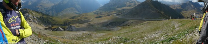 CdF 6 Tignes. Stage 1 starts here, and reaches it's halfway point down there.