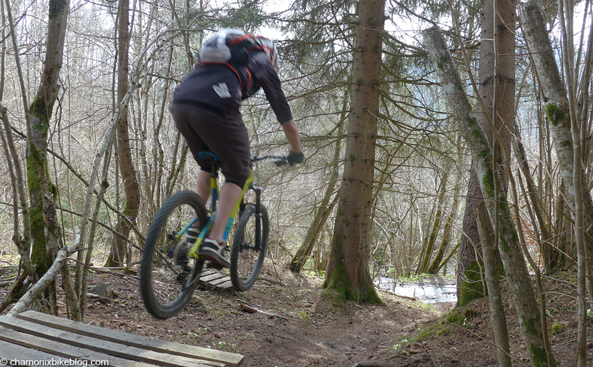 Servoz trails are most definitely clear of snow this year!