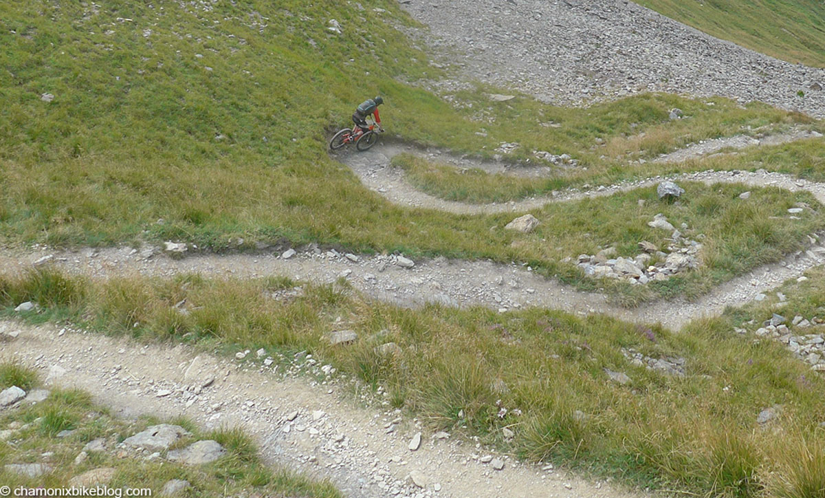 Like snakes and ladders, but where the snake bit is winning. Top of Col du Tricot