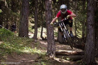 Spence: Making good use of the built features on the more natural trails